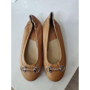 Dior Leather vintage buckle leather flats